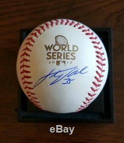 JUSTIN VERLANDER Signed 2017 World Series BASEBALL JSA Houston Astros Autograph