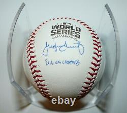 Jake Arrieta Autographed Cubs World Series 16 WS Champ MLB Baseball Fanatics COA
