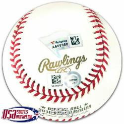 Jake Arrieta Chicago Cubs Signed Autographed 2016 World Series Baseball MLB Auth