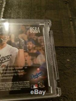 Joc Pederson 2017 Topps Now World Series Game 6 Base Relic Auto Sp #/99 Dodgers