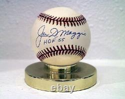 Joe DiMaggio Autographed Official 1994 World Series Baseball HOF 55 Inscription