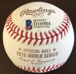 Joe Maddon 2016 World Series Champs Autographed Cubs W. S. Baseball Beckett Coa
