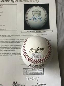 John Lackey Signed Autographed Official 2016 World Series Baseball Cubs JSA LOA