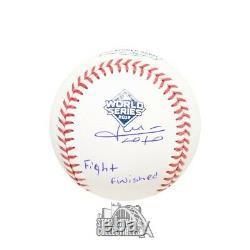 Juan Soto Fight Finished Autographed Official 2019 World Series Baseball BAS COA