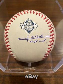 Juan Soto Signed ROMLB World Series Baseball Washington Nationals MLB WS Champ