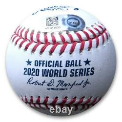 Julio Urias Signed Autographed 2020 World Series Official Baseball Dodgers MLB