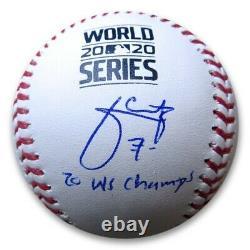 Julio Urias Signed Autographed World Series Baseball 20 WS Champ Dodgers MLB