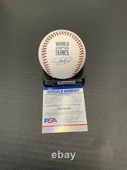 Justin Turner Dodgers Signed 2020 World Series Baseball Psa Witness