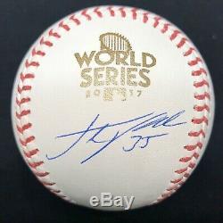 Justin Verlander Signed 2017 World Series Baseball Fanatics Tristar Astros