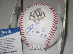 KENDRYS MORALES (KC) Signed Official 2015 WORLD SERIES Baseball with Beckett COA