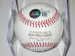 KERRY WOOD Signed Official 2016 WORLD SERIES Baseball with Beckett Witnessed COA