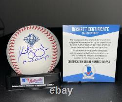 KURT SUZUKI signed auto 2019 World Series Baseball WAS. NATIONALS with COA BECKETT