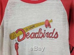 Kansas City Royals St Louis Deadbirds 1985 World Series Vtg Baseball MLB Shirt