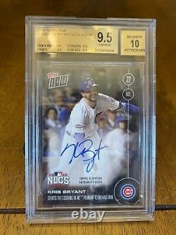 Kris Bryant 2016 Topps Now Auto Autograph /199 BGS 9.5 Cubs NLCS World Series