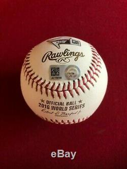 Kris Bryant, Autographed (MLB) Official 2016 World Series Baseball (Vintage)