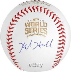 Kyle Hendricks Cubs Signed 2016 MLB World Series Baseball Fanatics