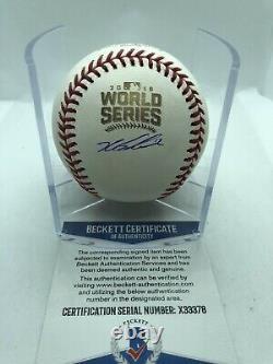 Kyle Schwarber Signed 2016 World Series Baseball Cubs Beckett COA
