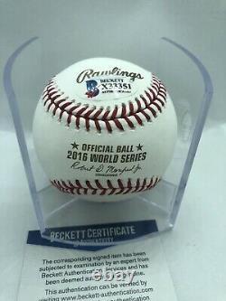 Kyle Schwarber Signed & Inscribed 2016 World Series Baseball Cubs Beckett COA