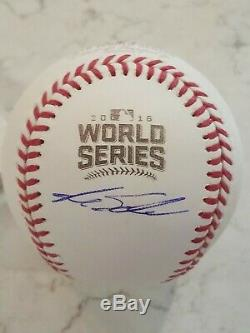 Kyle schwarber Autographed 2016 Chicago Cubs World Series Baseball champs
