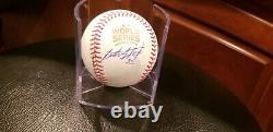 LESTER STRODE Chicago Cubs Signed 2016 WORLD SERIES Baseball, Beckett COA