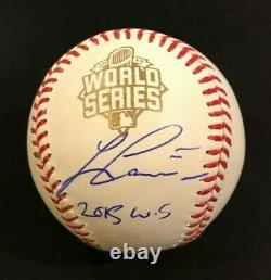 Lorenzo Cain Royals 2015 World Series Autographed Signed Oml Baseball Jsa Coa