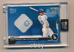 MOOKIE BETTS 2020 Topps Now World Series Game 1 Used Base Relic DODGERS #d 49