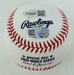 MOOKIE BETTS Autographed Dodgers 2020 WS Champs World Series Baseball FANATICS