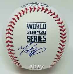 MOOKIE BETTS Autographed Los Angeles Dodgers 2020 World Series Baseball FANATICS