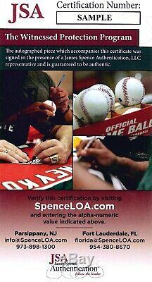 Maddux Jones Glavine Smoltz Braves Signed 1995 World Series Baseball JSA Auth