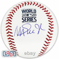 Magic Johnson Dodgers Signed Autographed 2020 World Series Baseball BAS Auth