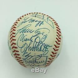 Magnificent 1995 Atlanta Braves WS Champs Team Signed World Series Baseball JSA
