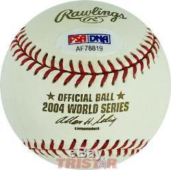 Manny Ramirez Signed Autographed 2004 World Series Baseball Psa Boston Red Sox