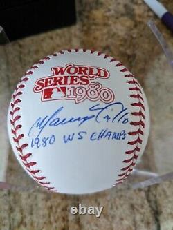 Manny Trillo Signed Official 1980 World Series Baseball PHILADELPHIA PHILLIES