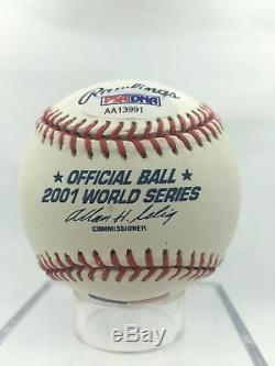 Mariano Rivera 2001 World Series Ceremonial First Pitch Baseball PSA DNA COA