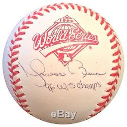 Mariano Rivera Signed 1996 World Series Baseball Ins 96 WS Champs Steiner Auto