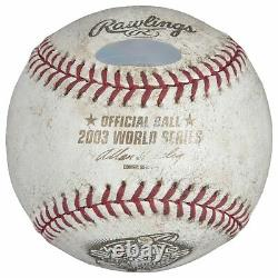Mariano Rivera Signed 2003 World Series Final Pitch Game Used Baseball Steiner