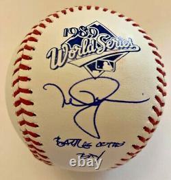 Mark McGwire Signed 1989 World Series Baseball Battle of the Bay MLB Hologram
