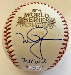 Mark McGwire Signed 2011 World Series Baseball with 2011 WS Champs MLB Hologram