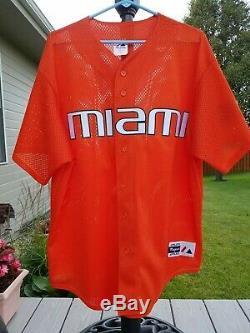 Miami Hurricanes Majestic Authentic NCAA Baseball Jersey College World Series XL