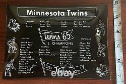 Minnesota Twins 1965 World Series Vintage Antique Ashtray Ash Tray Killebrew