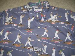 Mlb Baseball'take Me Out To The Ballgame' Hawaiian Shirt Reyn Spooner Sz Medium