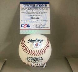 Mookie Betts Boston Red Sox Signed 2018 World Series Baseball Psa A142594