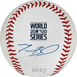 Mookie Betts Los Angeles Dodgers Autographed 2020 World Series Logo Baseball