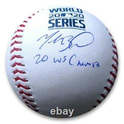 Mookie Betts Signed Autographed 2020 World Series Baseball 20 WS Champ MLB