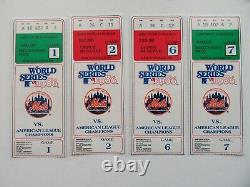 New York Mets 1986 World Series Tickets Games 1, 2, 6 & 7 1,2&7 Mint 6 Near MT
