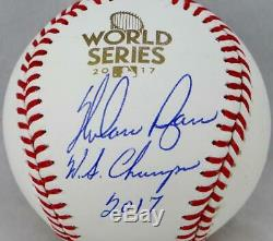 Nolan Ryan Autographed World Series Baseball with WS Champs 2017- JSA Auth
