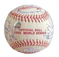 Official 1986 World Series New York Mets Team Signed Ball Cert of Authenticity