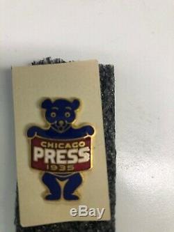 Original 1935 World Series Press Pin Tigers Vs. Cubs Wrigley Pin