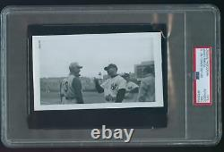 Original Photograph Mickey Mantle with Jim Turner 1961 World Series PSA Type 1