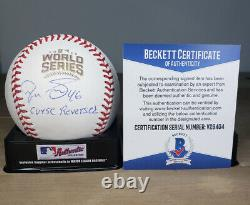PEDRO STROP signed 2016 World Series Baseball CHICAGO CUBS with COA BECKETT V29404